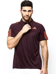 Adidas Men Maroon RESP TREND Tennis Polo T-shirt