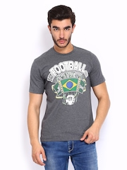 Adidas Men Grey T-shirt