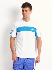 Adidas Men White Galaxy T-shirt