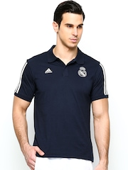 Adidas Men Navy REAL CO Football Polo T-shirt