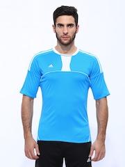 Adidas Men Blue Pepa Jersey Football T-shirt