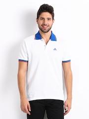 Adidas Men White Polo T-shirt