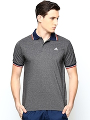 Adidas Men Dark Grey AESS Training Polo T-shirt