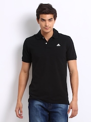Adidas Men Black Polo T-shirt