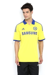 Adidas Men Yellow Chelsea Football Club Printed Jersey T-shirt