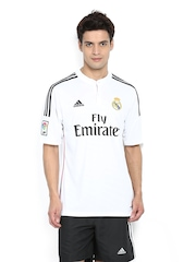 Adidas Men White Real Madrid Printed Jersey T-shirt
