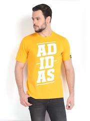 Adidas Men Yellow Printed Bold Lineage T-shirt