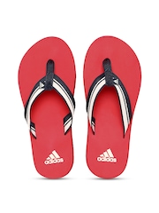 Adidas Men Black & Red Adze Flip-Flops
