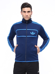 Men Navy Felted STREET DIVER TT Jacket Adidas Originals