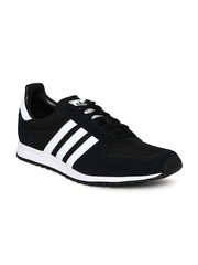 Men Black Adistar Racer Suede Casual Shoes Adidas Originals
