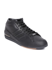 Men Black Porsche 356 Leather Casual Shoes Adidas Originals