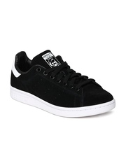 Men Black Stan Smith Suede Casual Shoes Adidas Originals