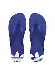 Adidas Originals Men Blue Flip Flops