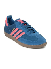 Adidas Originals Men Teal Blue Samba Casual Shoes