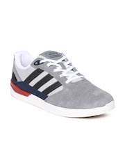 Men Grey Adidas ZX VULC Suede Skateboarding Shoes Adidas Originals