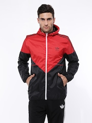 Men Red & Black Windbreaker COLORADO WB Jacket Adidas Originals