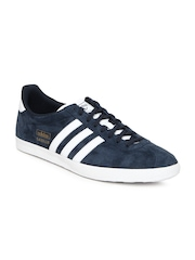 Men Navy Gazelle OG Suede Casual Shoes Adidas Originals