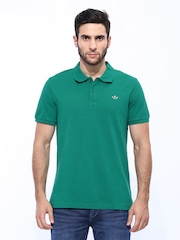 Men Green Adi Pique Polo T-shirt Adidas Originals