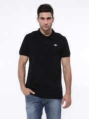 Men Black ADI Pique Polo T-shirt Adidas Originals
