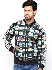 Men Black AOP TT Printed Jacket Adidas Originals