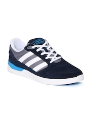 Men Navy & Grey ZX VULC Suede Skateboarding Shoes Adidas Originals