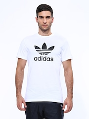 Men White ADI Trefoil Printed T-shirt Adidas Originals