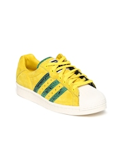 Men Yellow Ultrastar 80s Suede Casual Shoes Adidas Originals