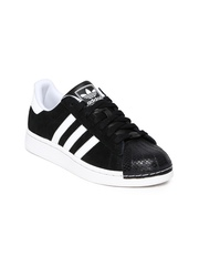 Adidas Originals Women Black Superstar II Casual Shoes