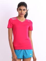 Adidas Women Pink T-shirt