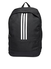 Adidas Unisex Black Versatile 3S Backpack