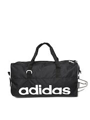 Adidas Unisex Black Duffle Bag