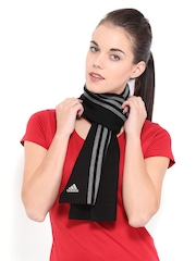 Adidas Unisex Black Scarf