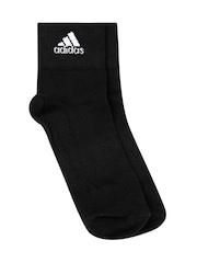 Adidas Unisex Black Sport Socks