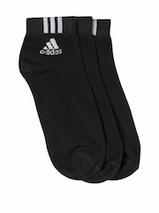 Adidas Unisex Set of 3 Black Socks