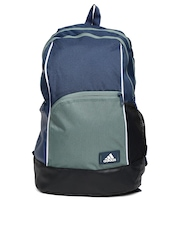 Adidas Unisex Teal Blue & Green Backpack