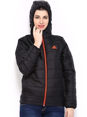 Adidas Women Black J Young Goose Hooded Jacket
