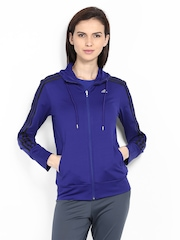 Adidas Women Blue Slim Fit Jacket