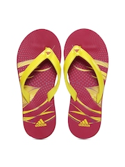 Adidas Women Red & Yellow Melia SS14 Flip Flops