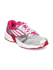Adidas Women Silver Toned & Pink Hachi W Sports Shoes