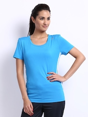 Adidas Women Blue T-shirt