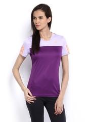 Adidas Women Purple T-shirt