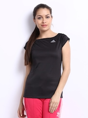 Adidas Women Black T-shirt