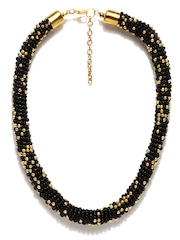 Adrika Black & Gold Toned Necklace