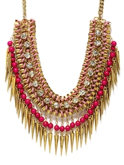 Adrika Gold Toned & Pink Necklace