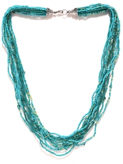 Green & Turquoise Blue Beaded Necklace Adrika