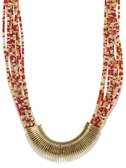 Adrika Red & Gold Toned Necklace