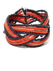 Adrika Coral Red and Navy Cuff Bracelet