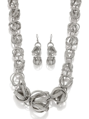 Adrika Silver Toned Jewellery Set