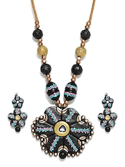Adrika Black Jewellery Set