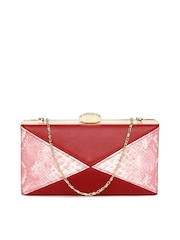 Aex Red & Pink Box Clutch